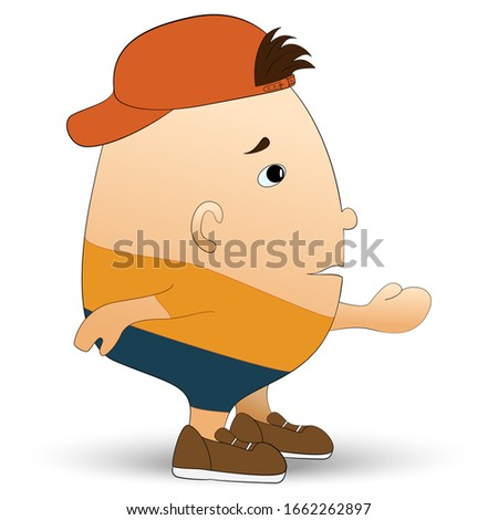 man in summer clothes in