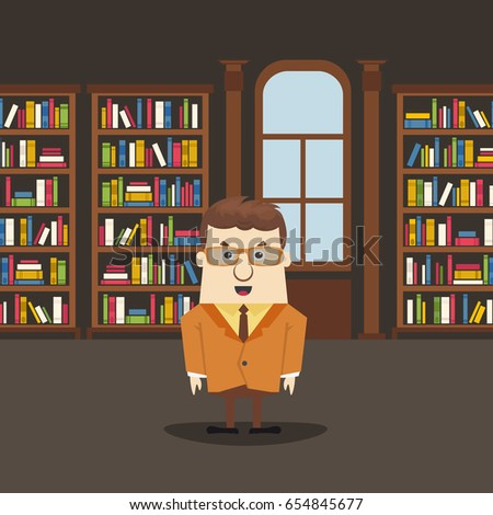 man in the library library