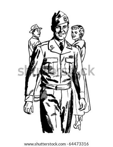 man in uniform   retro clipart
