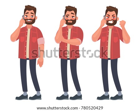 man is talking on the phone