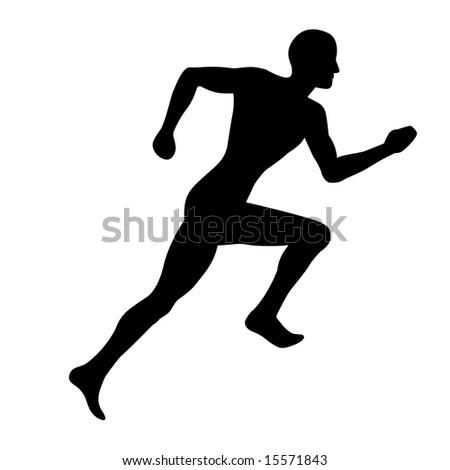 Man Jogging Illustration (silhouette)