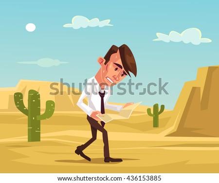 man lost businessman lost in