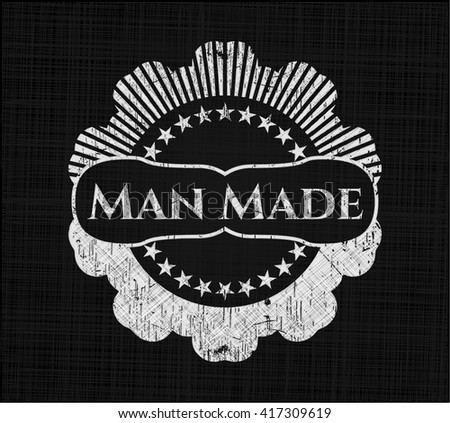 man made chalk emblem  retro