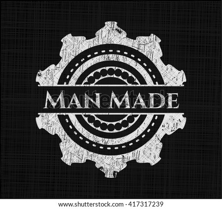 man made chalkboard emblem