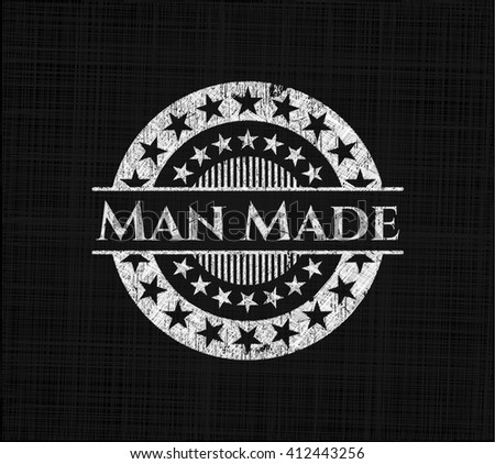 man made chalkboard emblem on
