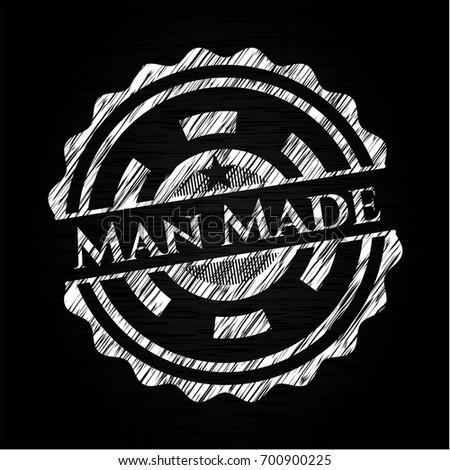 man made chalkboard emblem
