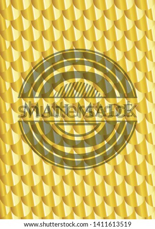 man made gold badge scales