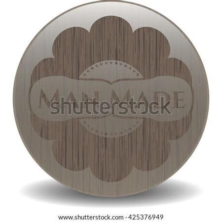 Man Made retro wood emblem