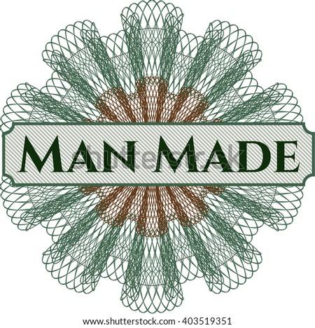 man made rosette  money style