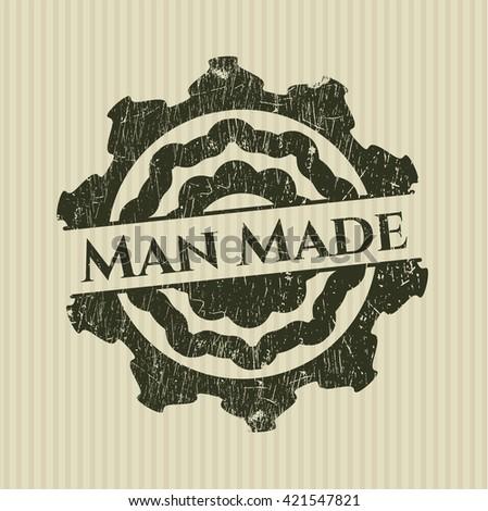 Man Made rubber grunge texture stamp