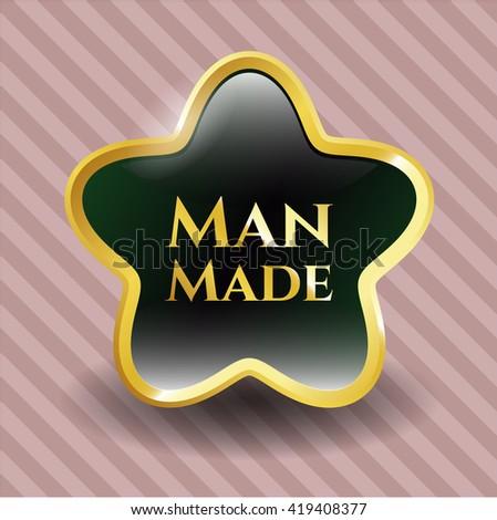 Man Made shiny badge