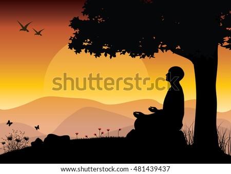 man meditating in sitting yoga
