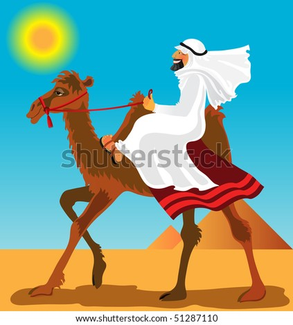 man on a camel