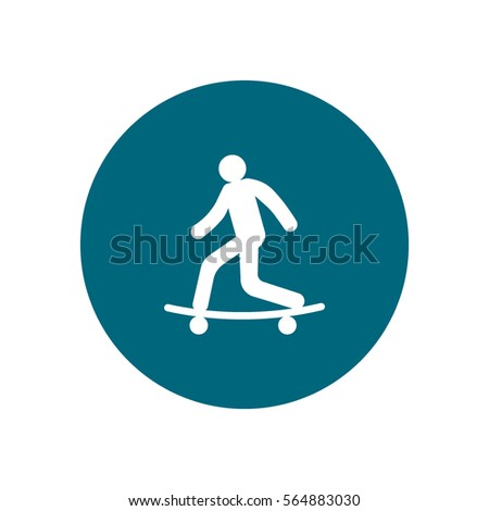 man on a skateboard