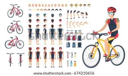 man on bicycle with spare body