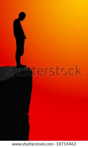 man on the edge vector