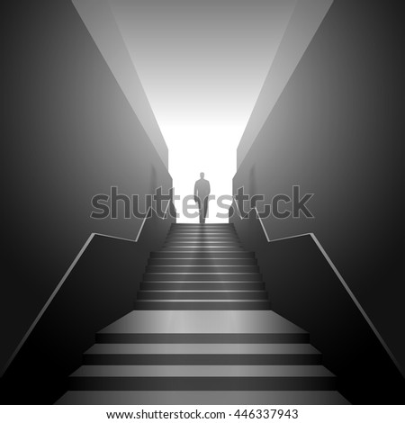 Man on the stairs #446337943