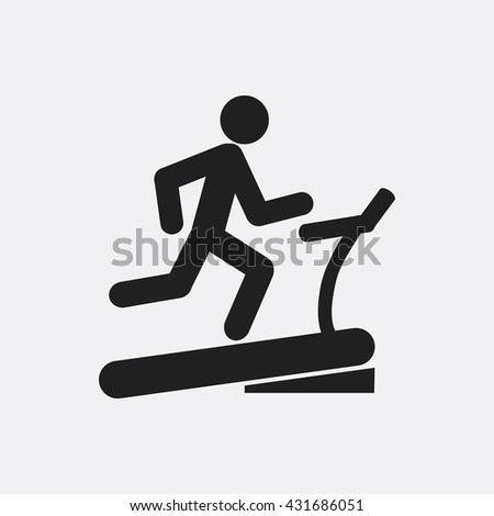 Man on treadmill Icon