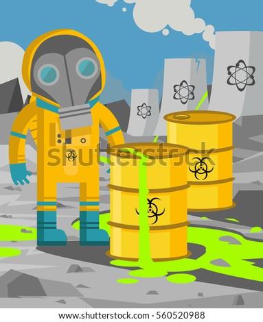 man on yellow biohazard suit in