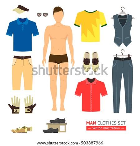 man or boy clothes set like