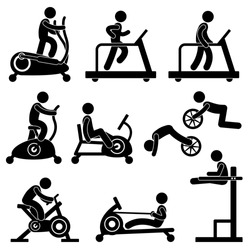 Man People Athletic Gym Gymnasium Fitness Exercise Healthy Training Workout Sign Symbol Pictogram Icon