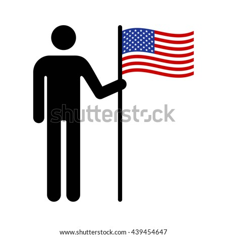 man  person or patriot holding