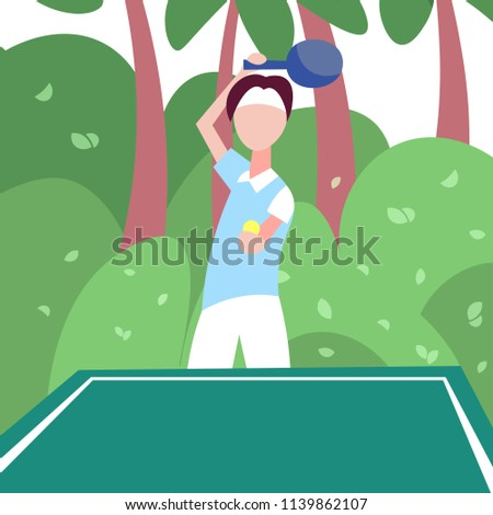 man ping pong player hold