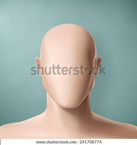 man portrait  faceless  eps 10