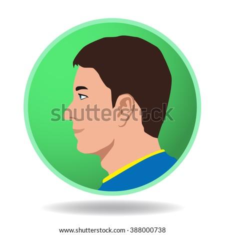 man profile icon  face as seen