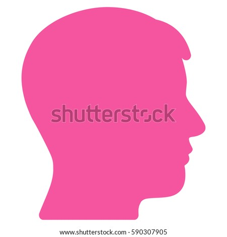 man profile vector icon flat