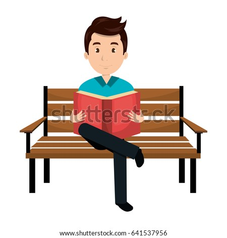 man reading book in park chair