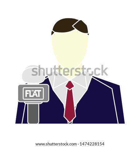 man reporter icon. flat illustration of man reporter vector icon. man reporter sign symbol