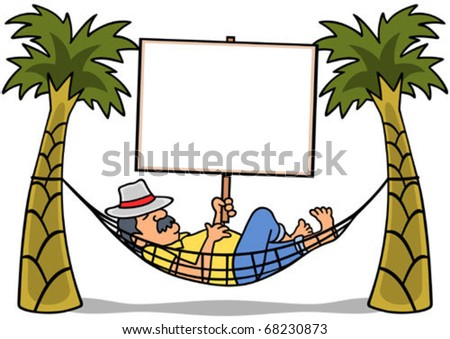 man resting in a hammock
