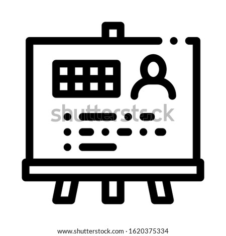 Man Result Board Icon Vector. Outline Man Result Board Sign. Isolated Contour Symbol Illustration