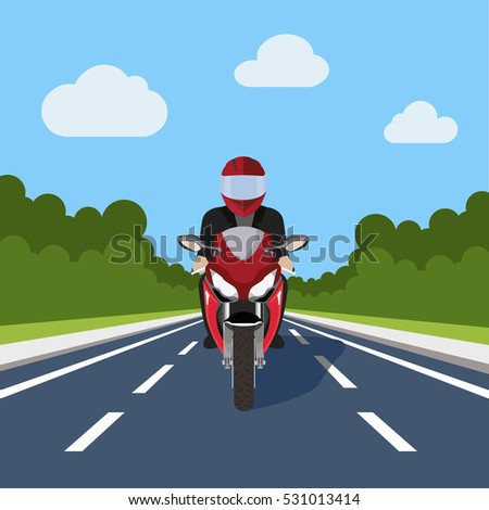 man ride motor bike on highway
