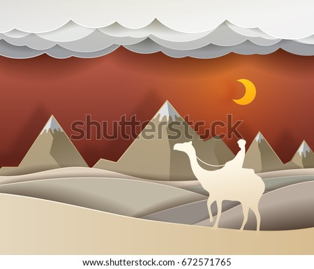 man riding a camel in the