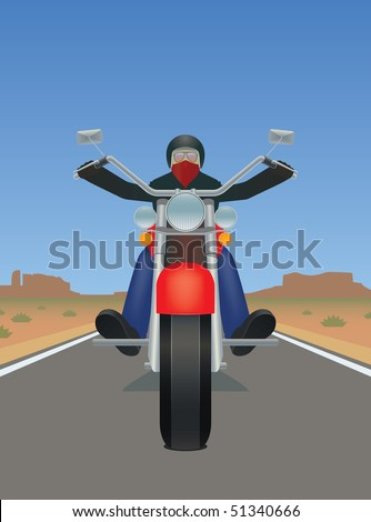 man riding a motorcycle in the