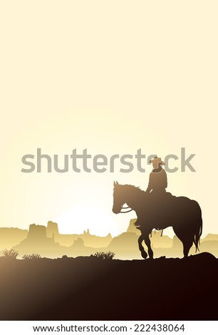 man riding horse at sunrise