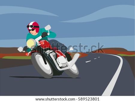 man riding motorcycle in
