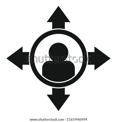 Man right decision icon. Simple illustration of man right decision vector icon for web design isolated on white background