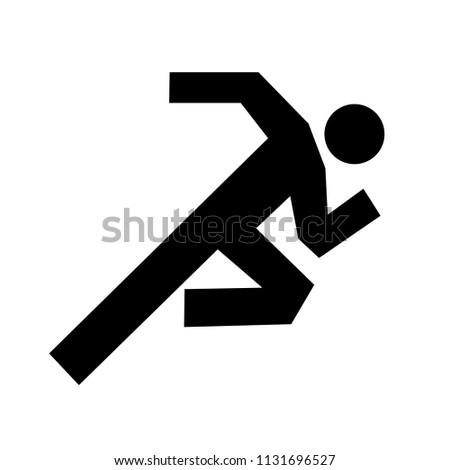 man running icon vector - running symbol - concept of health