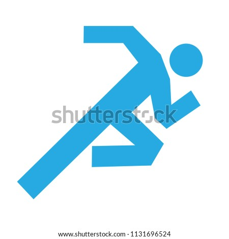 man running icon vector - running symbol - concept of health and sport