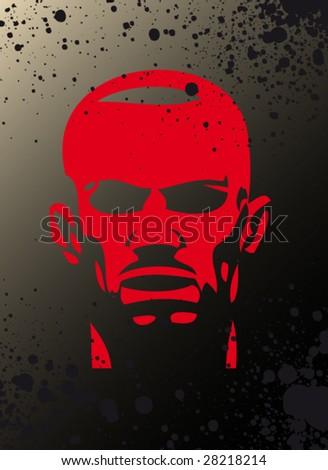 man's face poster