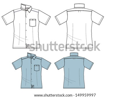 man's fashion short sleeved