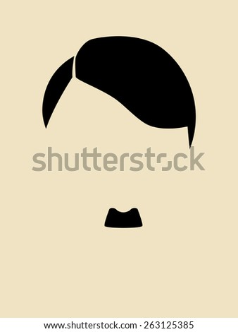 man's hair and mustache symbol