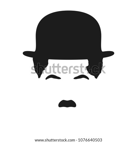man's hair  mustache and hat