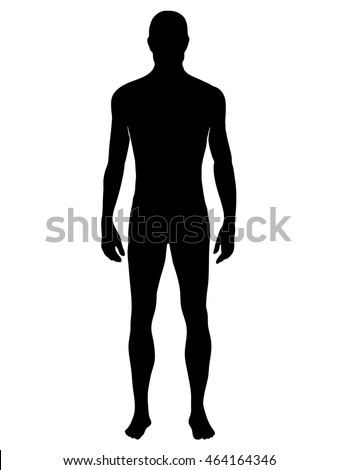 Man silhouette - isolated vector illustration in EPS 8 format