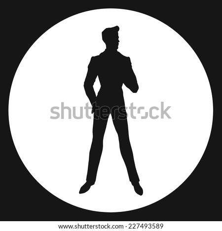 man silhouette james bond