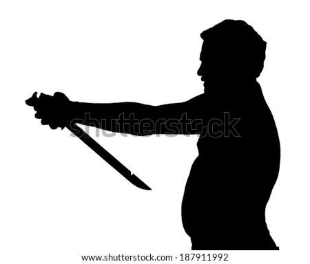man silhouette stubby european