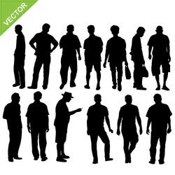 man silhouette vector